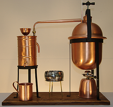 Stills and equipment to produce superior spirits and brandies